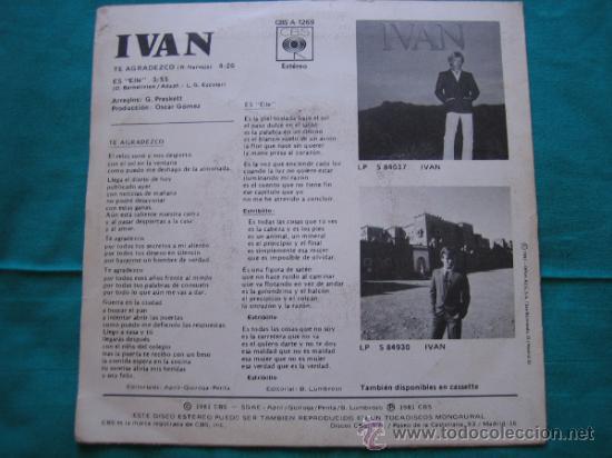 Discos de vinilo: Singels Ivan 1981 - Foto 4 - 33262989