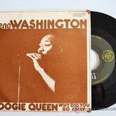 Discos de vinilo: GENO WASHINGTON - BOOGIE QUEEN/WHY DID YOU GO AWAY (DJM SINGLE 1977) ESPAÑA. Lote 33257979
