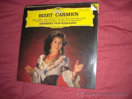 BIZET-CARMEN-BALTSA-CARRERAS-KARAJAN LP 1984 GERMANY (Música - Discos - LP Vinilo - Clásica, Ópera, Zarzuela y Marchas)