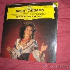Discos de vinilo: BIZET-CARMEN-BALTSA-CARRERAS-KARAJAN LP 1984 GERMANY. Lote 33261866