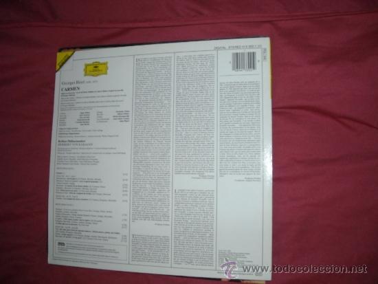 Discos de vinilo: BIZET-CARMEN-BALTSA-CARRERAS-KARAJAN LP 1984 GERMANY - Foto 2 - 33261866