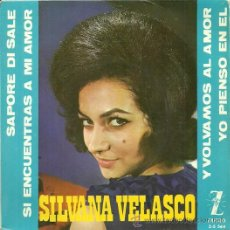 Discos de vinilo: SILVANA VELASCO EP SELLO ZAFIRO AÑO 1964 EDITADO EN ESPAÑA.. Lote 33264341