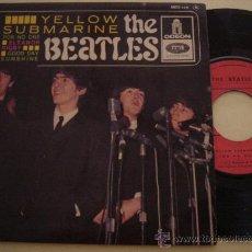 Discos de vinilo: THE BEATLES -EP- YELLOW SUBMARINE + 3 - RARE FRENCH ED 60'S. Lote 33264420