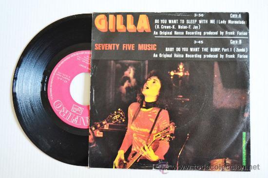 Discos de vinilo: GILLA - Seventy Five Music (ZAFIRO Single 1975) ESPAÑA - Foto 2 - 33265225