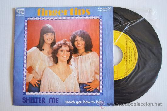 FINGERTIPS - SHELTER ME/TEACH YOU HOW TO LOVE (POPLANDIA SINGLE 1976) ESPAÑA (Música - Discos - Singles Vinilo - Pop - Rock - Internacional de los 70)