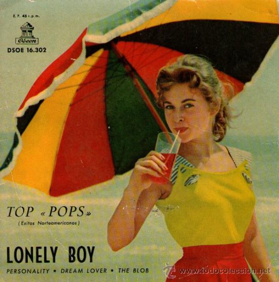 JORGE FOSTER - EP SINGLE VINILO 7'' - EDITADO EN ESPAÑA - LONELY BOY + 3 - ODEON 1959. (Música - Discos de Vinilo - EPs - Solistas Españoles de los 50 y 60)