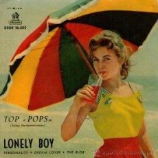 Discos de vinilo: JORGE FOSTER - EP SINGLE VINILO 7'' - EDITADO EN ESPAÑA - LONELY BOY + 3 - ODEON 1959.. Lote 33267551
