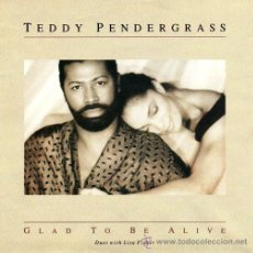 Discos de vinilo: TEDDY PENDERGRASS ••• GLAD TO BE ALIVE / IF YOU ASKED ME TO - (SINGLE 45 RPM) ¡NUEVO!. Lote 33271901