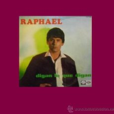 Discos de vinilo: RAPHAEL DIGAN LO QUE DIGA LP EMI 1967 SPA LCLP 1.447 1967 SPA. Lote 33276577