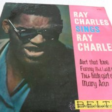Discos de vinilo: RAY CHARLES -AIN'T THAT LOVE +3 EP 1961. Lote 33362071
