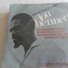 Discos de vinilo: LOU BENNETT - IMPROVISACIONS -EL CANT DEL OCELLS + 3 EP 1966. Lote 33383543