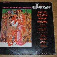 Discos de vinilo: CAMELOT.BSO DE LA PELICULA.( WARNER 1967.HISPAVOX.).CANTADO EN INGLES.. Lote 33307280