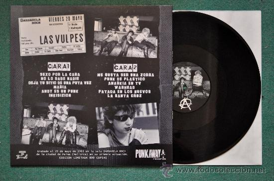 Discos de vinilo: VULPESS (Las Vulpes) , L.P. BARBARELA 83 - Foto 2 - 117324774