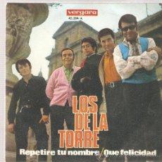 Discos de vinilo: SINGLE LOS DE LA TORRE : REPETIRE TU NOMBRE . Lote 33340103