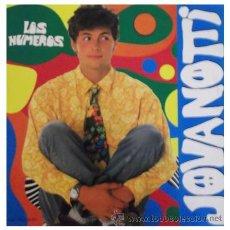 Discos de vinilo: JOVANOTTI - LOS NUMEROS - MAXI SINGLE RARO DE 12 PULGADAS CANTADO EN ESPAÑOL ITALO DISCO. Lote 33345705