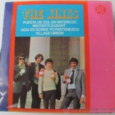 Discos de vinilo: THE KINKS - WATERLOO SUNSET - EP 1967. Lote 33363383