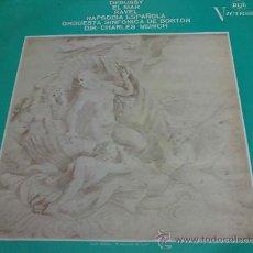 Discos de vinilo: DEBUSSY, RAVEL - DIRECTOR: CHARLES MUNCH - LP DE VINILO. Lote 33364408