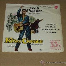Discos de vinilo: ELVIS PRESLEY EP KING CREOLE (EL BARRIO CONTRA MI) ORIGINAL ESPAÑOL MUY RARO. Lote 33367798