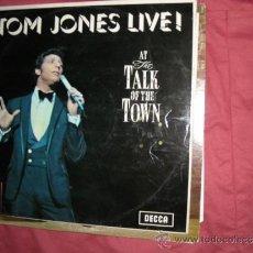 Discos de vinilo: TOM JONES LIVE! (AT THE TALK OF THE TOWN) LP DECCA ENGLAND VER FOTO ADICIONMAL. Lote 33370882
