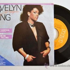 Discos de vinilo: EVELYN CHAMPAGNE KING - OUT OF CONTROL/SHOW ME (RCA SINGLE 1985) ESPAÑA. Lote 33371075