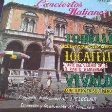 Discos de vinilo: TORELLI, LOCATELLI, VIVALDI, CONCIERTOS ITALIANOS - J.M. LECLAIR, J.F PAILLARD - LP DE VINILO. Lote 33375209