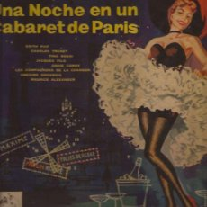 Discos de vinilo: LP-25 CTMS-CABARET NIGHT IN PARIS-VSA 1048-ESPAÑA-195???-PIAF TRENET ROSSI DELYLE SABLON. Lote 33381395