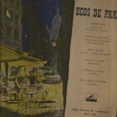 Discos de vinilo: LP-25 CTMS-ECOS DE PARIS-VSA 1016-ESPAÑA-PIAF TRENET ROSSI CORDY PILLS BRETONNIERE. Lote 33381606
