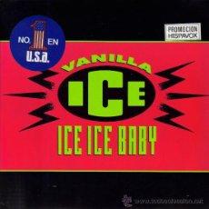 Discos de vinilo: VAINILLA ICE-ICE ICE BABY + IT´S A PARTY SINGLE 1990 PROMOCIONAL (EU). Lote 33384969