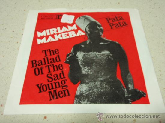 MIRIAM MAKEBA ( PATA PATA - THE BALLAD OF THE SAD YOUNG MEN ) GERMANY  SINGLE45 REPRISE RECORDS