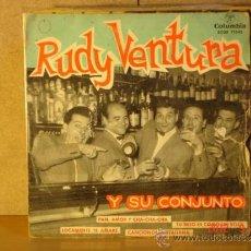 Discos de vinilo: RUDY VENTURA Y SU CONJUNTO - PAN AMOR Y CHA-CHA-CHA + 3 - COLUMBIA ECGE 71343 -1959. Lote 33390497