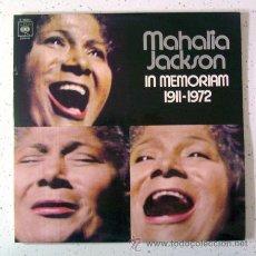 Discos de vinilo: DOBLE VINILO . MAHALIA JACKSON. IN MEMORIAN . CBS-1972. Lote 33394297