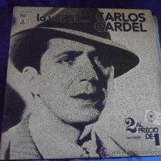 Discos de vinilo: LA VOZ DE... CARLOS GARDEL. DOBLE LP CON SUS MEJORES CANCIONES. EMI. 1976.. Lote 48300331