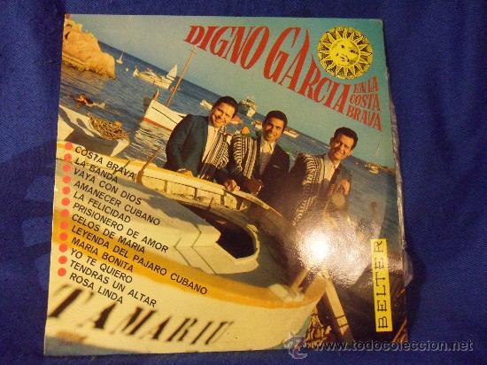 DIGNO GARCIA EN LA COSTA BRAVA. LP CON 12 CANCIONES. BELTER. COSTA BRAVA. LA BANDA. VAYA CON DIOS. L (Música - Discos - LP Vinilo - Solistas Españoles de los 50 y 60)