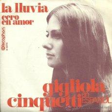 Discos de vinilo: GIGLIOLA CINQUETTI CANTA EN ESPAÑOL SINGLE SELLO DISCOPHON EDITADO EN ESPAÑA AÑO 1969. Lote 33409363