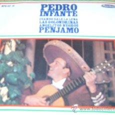 Discos de vinilo: PEDRO INFANTE -CUANDO SALE LA LUNA+LAS GOLONDRINAS+ ANGELITOS NEGROS+PENJAMO- AÑO 1.967 PEERLESS. Lote 185726318