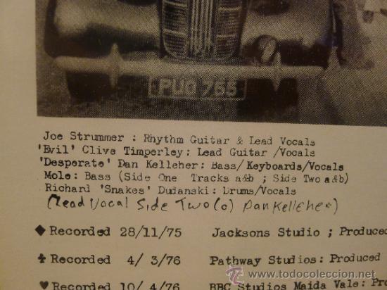 Discos de vinilo: The 101ers Elgin avenue breakdown lp Vinilo Joe Strummer Pre The Clash Punk Sex pistols - Foto 4 - 33448591