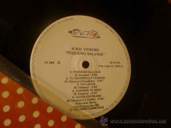 Discos de vinilo: Kiko veneno lp vinilo Pequeño salvaje - Foto 4 - 33448461