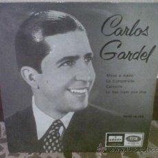 Discos de vinilo: CARLOS GARDEL - MANO A MANO, LA CUMPARSITA, CAMINITO, LO HAN VISTO CON OTRA. Lote 33460302