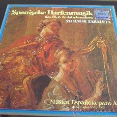 Vinyl records - MÚSICA ESPAÑOLA PARA ARPA, NICANOR ZABALETA - 33461648