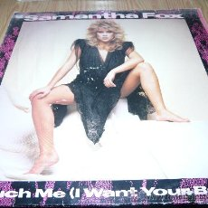 Discos de vinilo: SAMANTHA FOX -TOUCH ME (I WANT YOUR BODY)+NEVER GONNA FALL IN LOVE AGAIN- 1.986. Lote 33464396