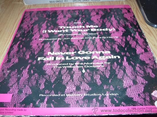 Discos de vinilo: SAMANTHA FOX -TOUCH ME (I WANT YOUR BODY)+NEVER GONNA FALL IN LOVE AGAIN- 1.986 - Foto 2 - 33464396