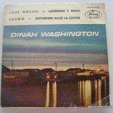 Discos de vinilo: DINAH WASHINGTON - ¡ QUE NOCHE ! + 3 EP . Lote 33469652