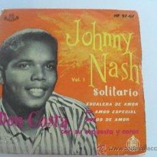 Discos de vinilo: JOHNNY NASH - SOLITARIO - ESCALERA DE AMOR + 3 EP 1959. Lote 33564542