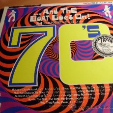 Discos de vinilo: AND THE BEAT GOES ON ( 34 DANCE HITS OF THE 70'S) DOBLE LP 1988 UK ( VIN5). Lote 33489468