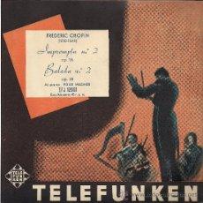 Discos de vinilo: FREDERIC CHOPIN: IMPROMPTU Nº 2 / BALADA Nº 2 (TELEFUNKEN, SIN FECHA). Lote 33498023