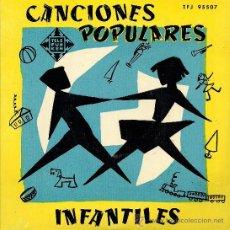 Discos de vinilo: CANCIONES POPULARES INFANTILES: CON EL PICOTÍN/ LA PANADERITA... EP 45 RPM. Lote 33504640
