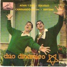 Discos de vinilo: EP DUO DINAMICO ADAN Y EVA - REPITEME- DIAVOLO - CAMINANDO. Lote 33512147