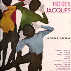 Discos de vinilo: LES FRÈRES JACQUES: 10 CHANSONS DE... JACQUES PREVERT. 10
