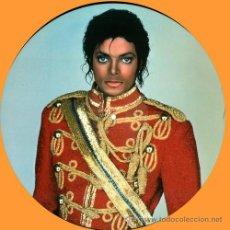 Discos de vinilo: MICHAEL JACKSON- BAD / STRANGER IN MOSCOW REMIXES / PICTURE DISC VINYL MAXI SINGLE. Lote 33538318