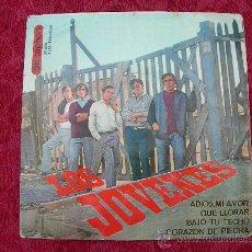 Discos de vinilo: LOS JOVENES // ADIOS MI AMOR + 3. Lote 33541687